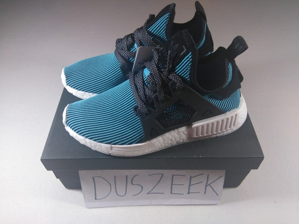 "<strong>ADIDAS</strong> <strong>NMD</strong> <strong>XR1</strong> PRIMEKNIT ""BRIGHT CYAN"" 4US, 7.5US - 12.5US DS BLACK BLUE CAGED NOMAD LIMITED PK - photo 1/1"