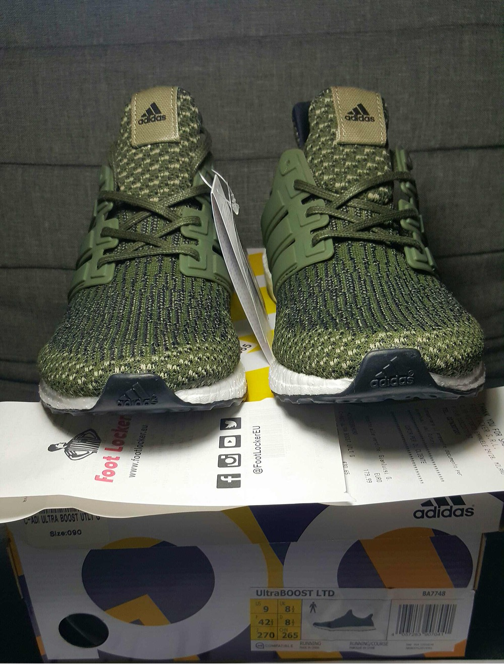 Adidas Ultra Boost 3 0 Trace Cargo Olive Green Military US Size 8