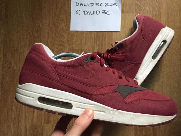 Nike Air Max 1 team red burgundy - photo 1/3
