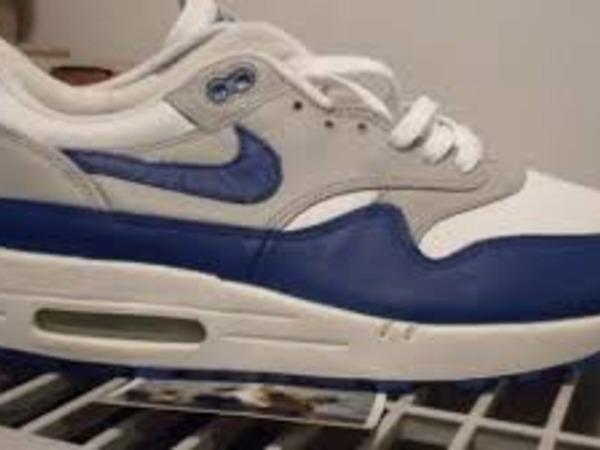 Nike Air Max 1 blue leather sc - photo 1/3