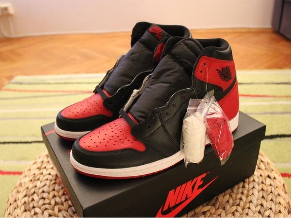 """Air Jordan 1 RETRO HIGH OG """"BRED"""" Banned - photo 1/3"""