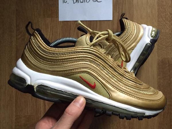 nike air max 97 metallic gold buy