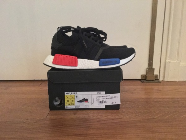 Adidas NMD PK OG Black 4 US DS Mastermind Human Race yellow Ultra Boost Solebox 3.0 cny olive - photo 1/5