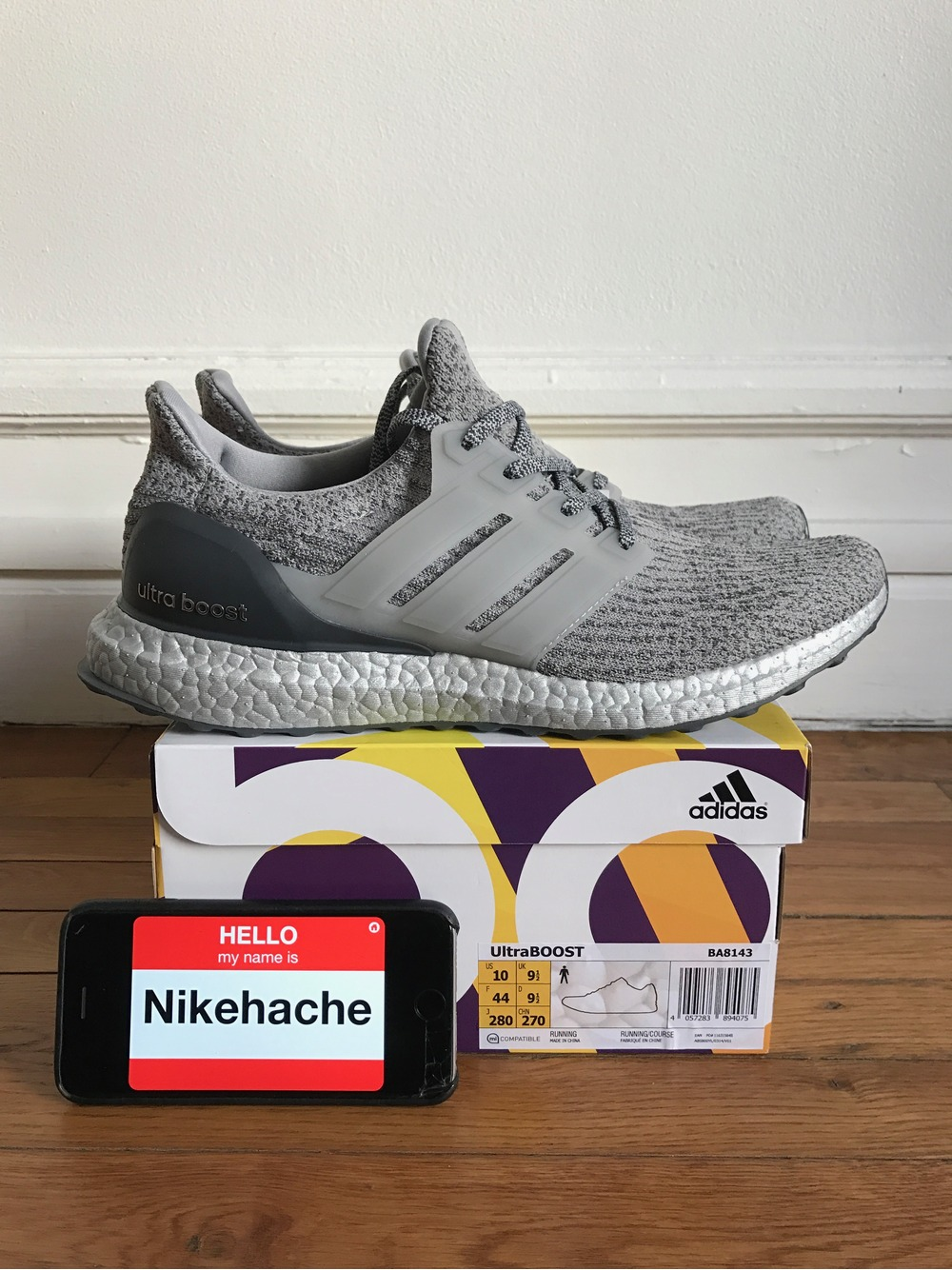 BUY Adidas Ultra Boost 3.0 Silver