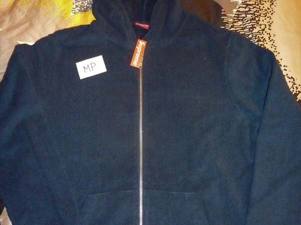 "Supreme Terry Zip Up Sweat ""Navy"" - photo 1/2"