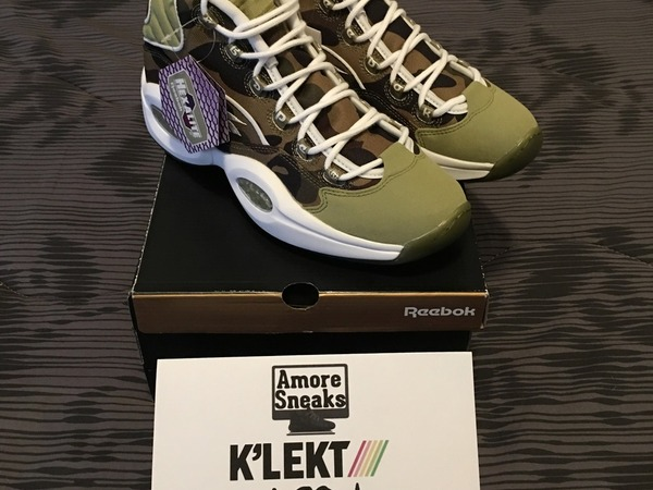 Reebok x bape x mita sneakers question mid us10 eu44 - photo 1/7