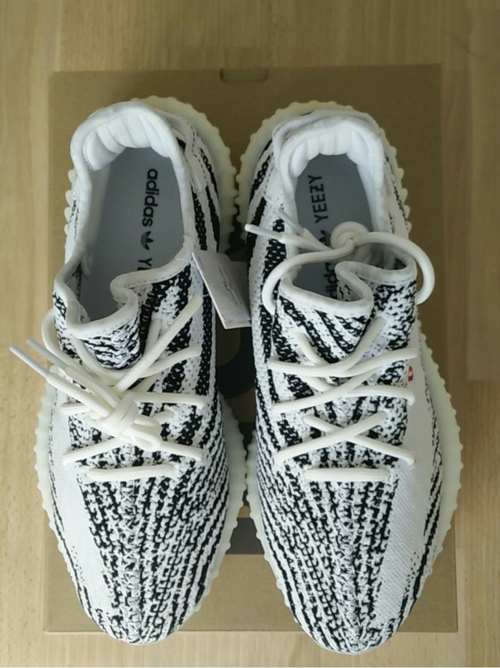 ASMR Yeezy 350 V 2 Zebra Unboxing Review.