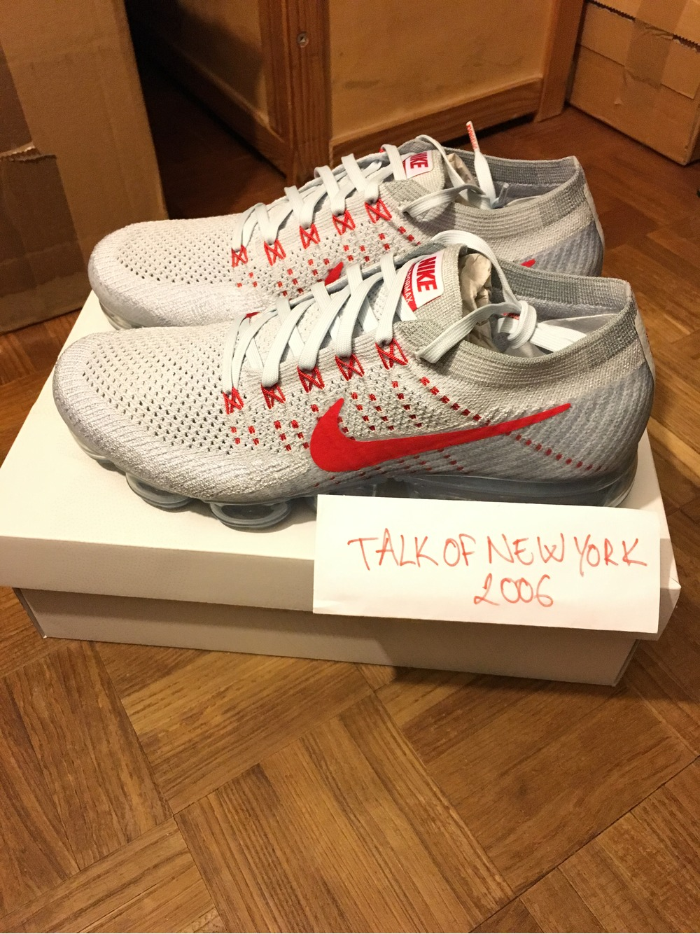 Cheap Nike VaporMax OG Uk 9 university red platinum cdg Air Max