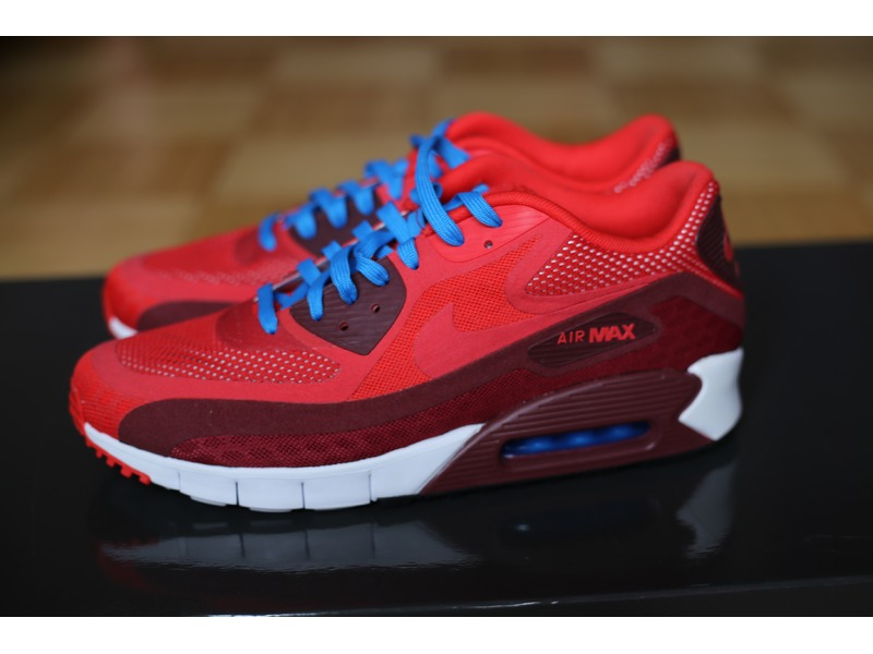 purchase cheap 40491 1acaf ... nike air max 90 breathe trainers red ...