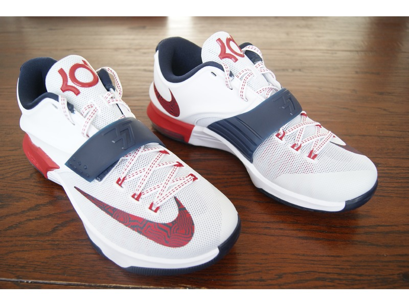 nike kd VII kd 7 independence day usa size 9 us og box with receipt deadstock