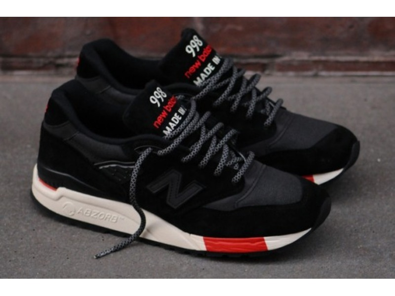 black new balance 998 running