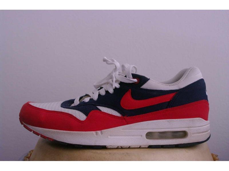 Air Max 1 Midnight Navy Red Nike 308866 405 midnight