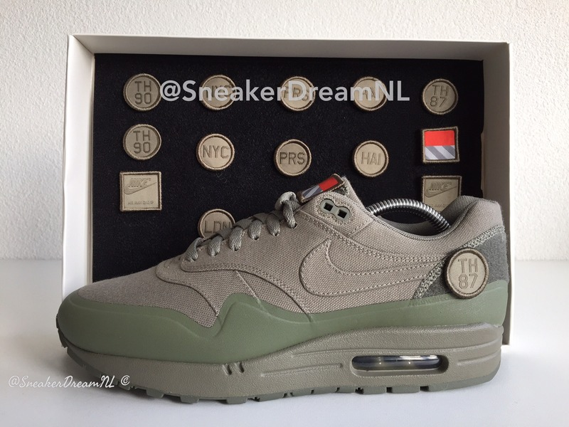 size 40 3c9f0 4fb5b US8-US10.5 Nike Air Max 1 V SP TZ Patch Pack Steel Green, Sand   Black  Paris og Patta ( 161928) from SneakerDreamNL at KLEKT