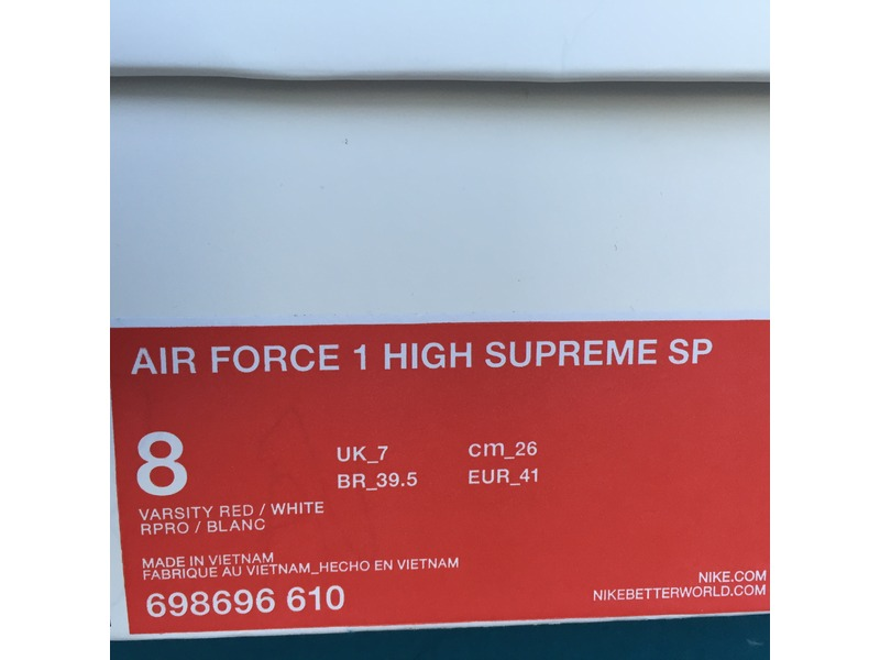 ... air force 1 high supreme sp quotsupreme red box logoquot