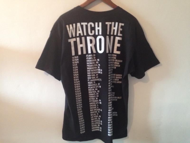 Kanye West Watch the Throne Tour Yeezus t shirt 2011 Yeezy ...