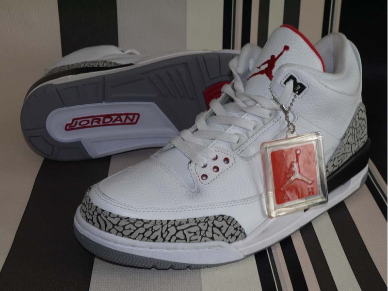 official photos ac512 bdf9c Nike Air Jordan 3 III Retro White Cement 2011 136064-105 Size 12 -