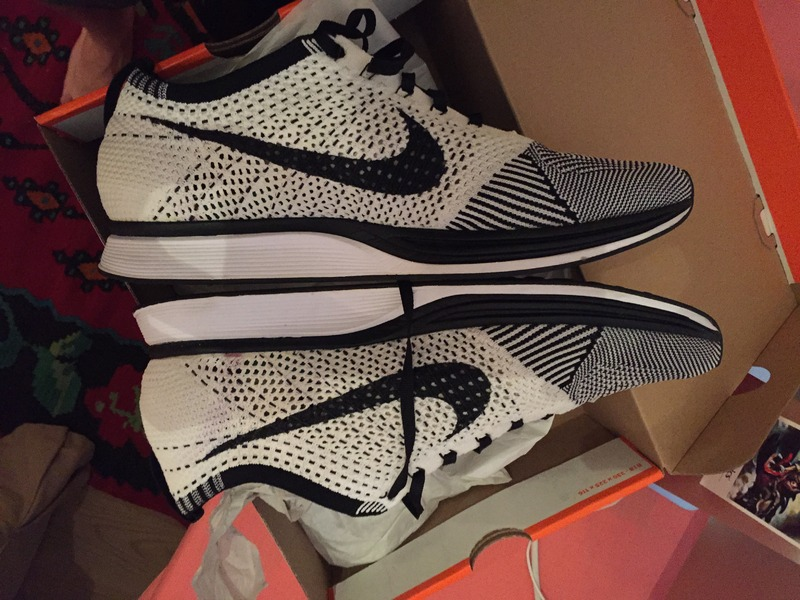 eeefc3bd13237 ... nike Flyknit Racer Orca  WHITE TONGUES  US 11 - photo 2 4 ...