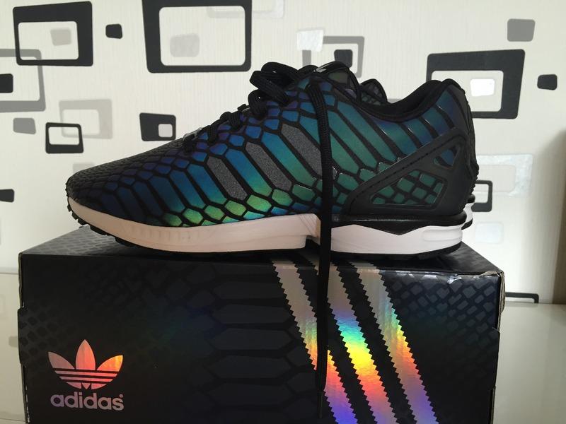 adidas zx flux xenopeltis snake reflective