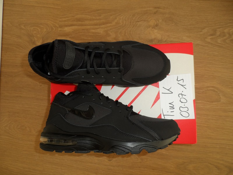 RARE: Nike AIR MAX 93 TRIPLE BLACK DS US 10.5 EU 44.5