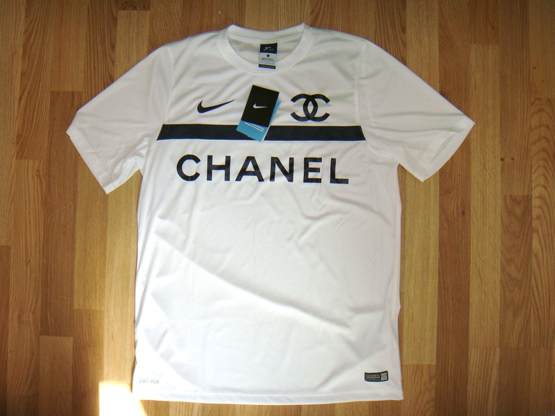 324ebd391 Nike Chanel Dry Fit Authentic Football Jersey Shirt New Size Large White  Limited Edition (
