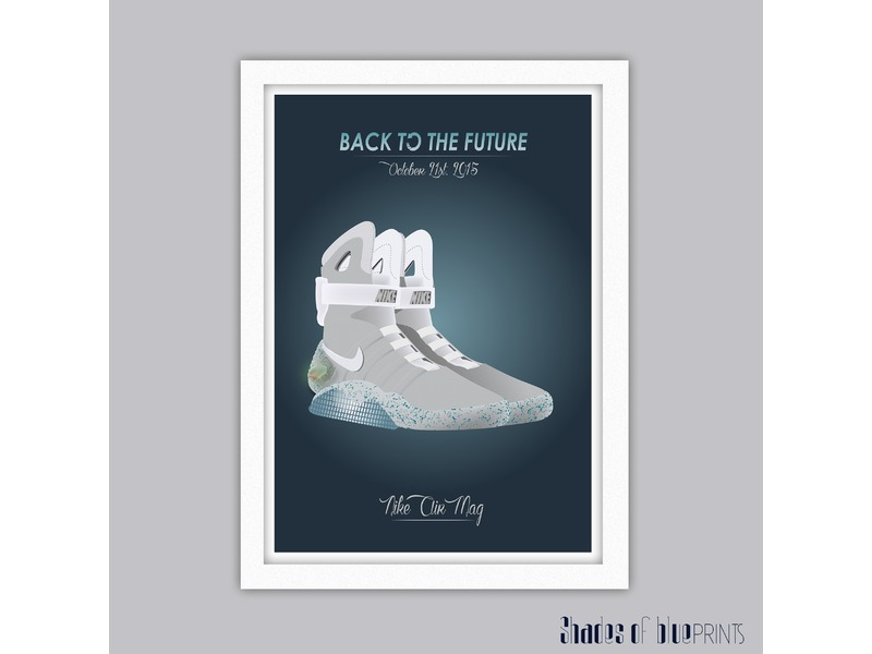 nike air mags. back to the future - nike air mag poster photo 1/4 mags