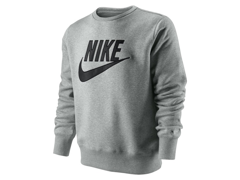 sweat sportswear nike brushed crew 2 gris m 23959 from shop snkr at klekt. Black Bedroom Furniture Sets. Home Design Ideas