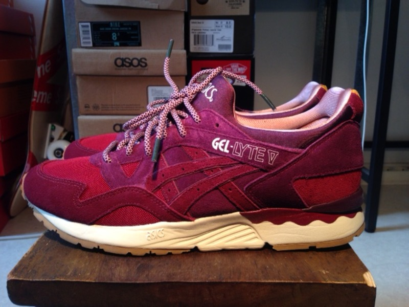 asics gel lyte v dried rose