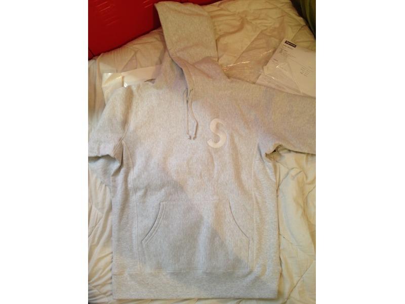 supreme grey s logo hoodie large 232661 from natsu12 at