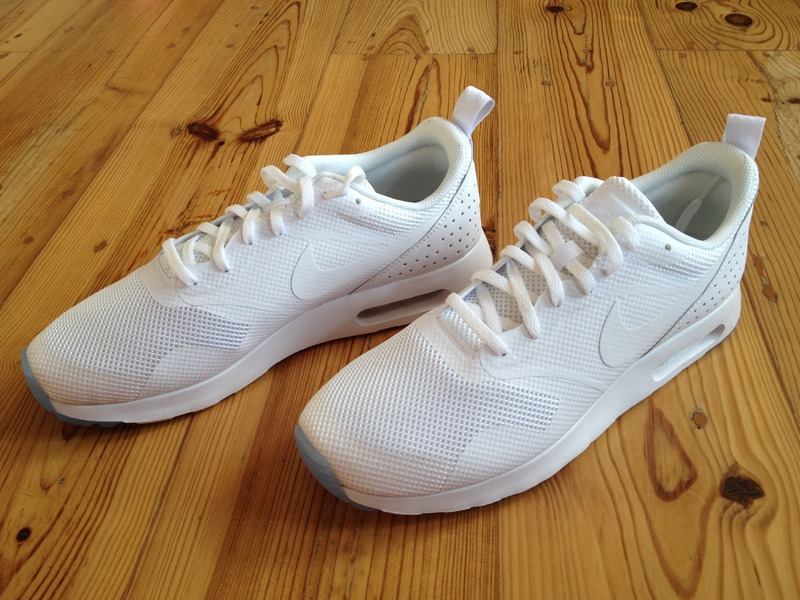 nike air max tavas triple white for sale