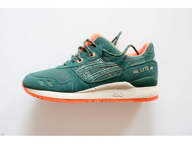asics gel lyte 3 green orange