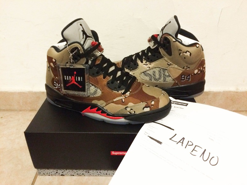 <strong>Air</strong> <strong>Jordan</strong> 5 V <strong>Supreme</strong> <strong>Desert</strong> <strong>Camo</strong> - photo 1/7