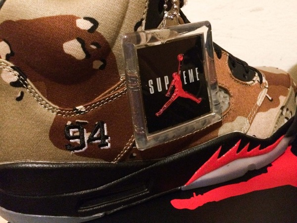 <strong>Air</strong> <strong>Jordan</strong> 5 V <strong>Supreme</strong> <strong>Desert</strong> <strong>Camo</strong> - photo 3/7