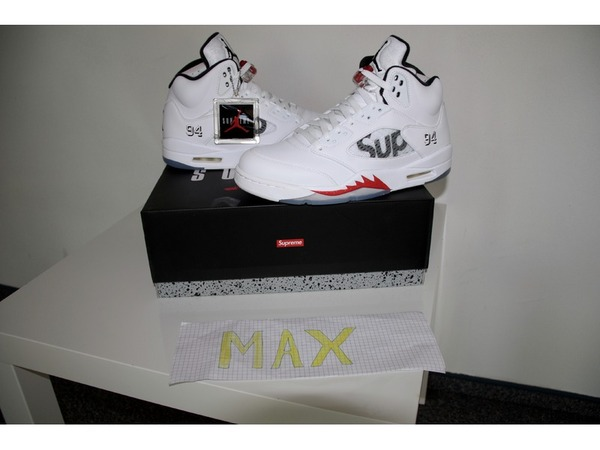 Nike Air Jordan 5 retro Supreme AJV - photo 1/4