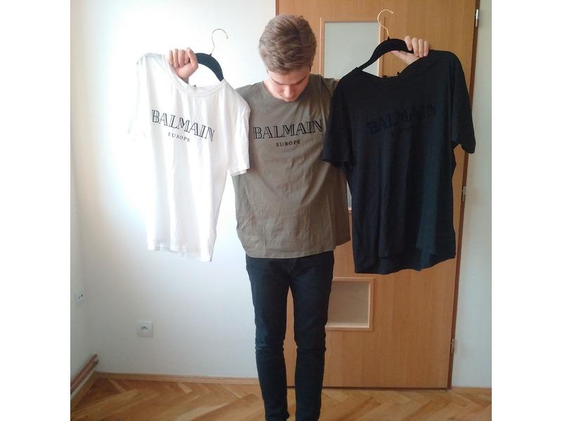 h m balmain men 39 s white t shirt size m 249535 from. Black Bedroom Furniture Sets. Home Design Ideas