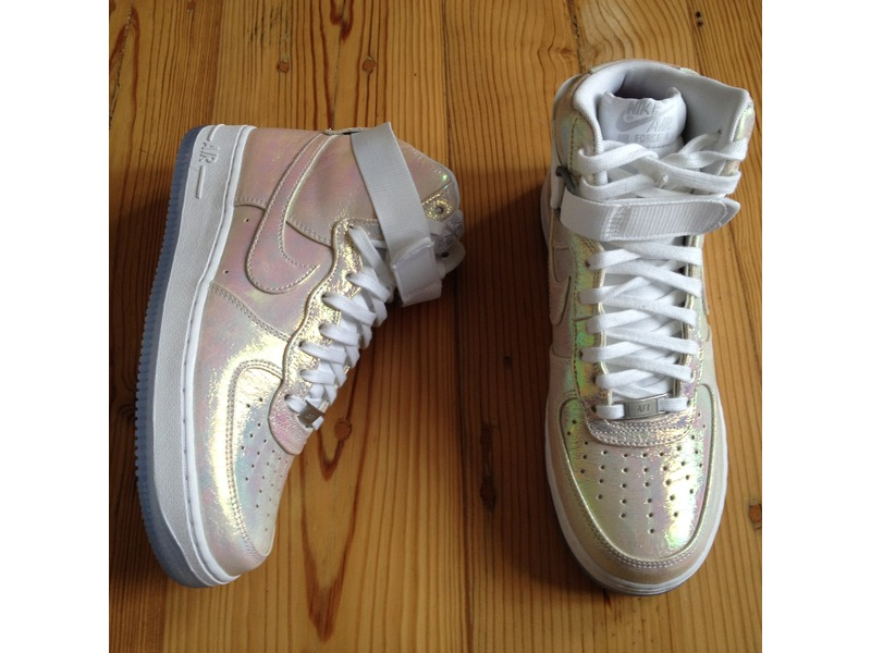 sports shoes 87809 f6774 ... shop nike 704517100 nike wmns air force 1 hi premium qs iridescent pearl  photo 2 9