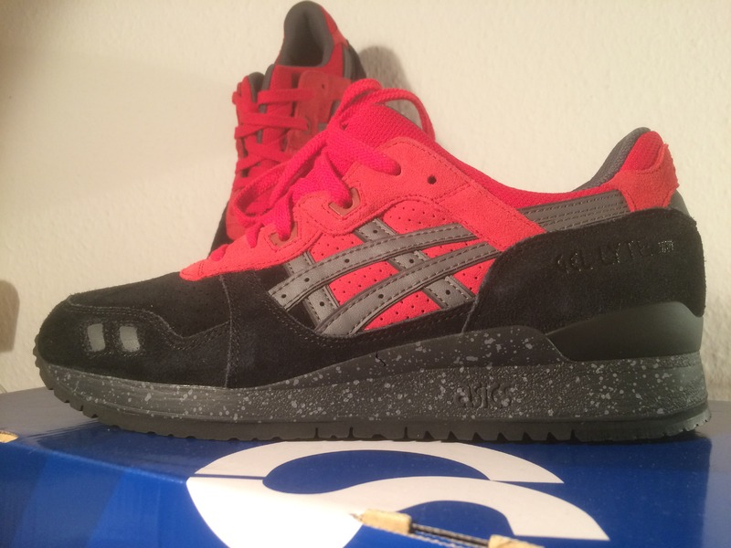 online store 16de6 220ec asics gel lyte iii black and red