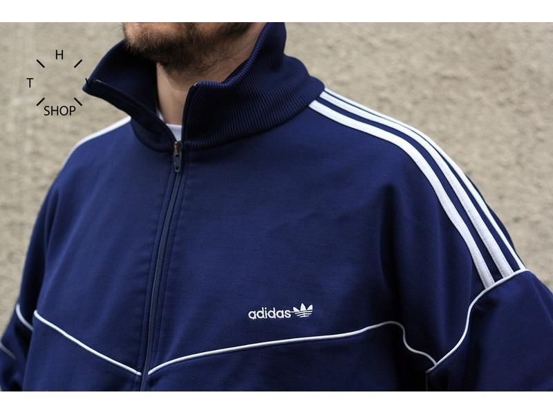 vintage adidas track top front zip jacket sweatshirt. Black Bedroom Furniture Sets. Home Design Ideas