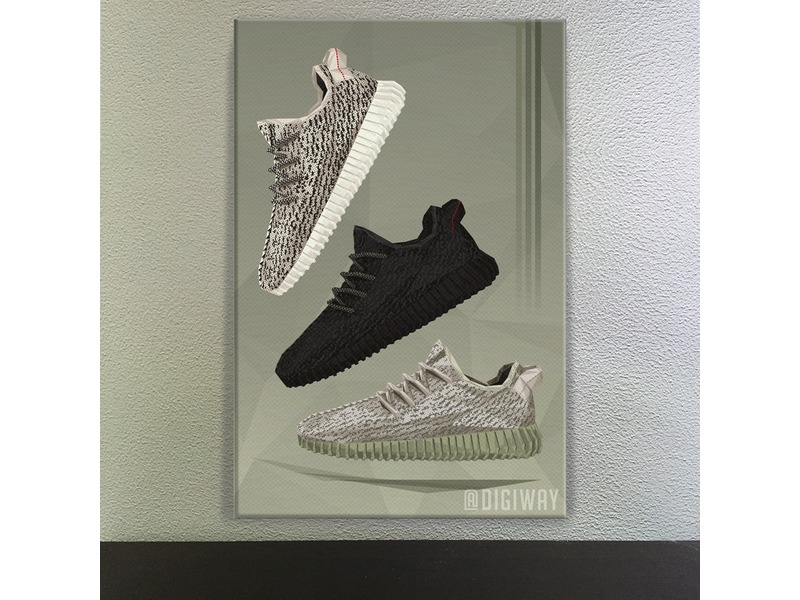 huge selection of b7a46 7a9cd yeezy boost poster