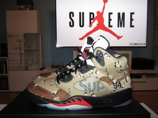 <strong>Air</strong> <strong>Jordan</strong> V 5 <strong>x</strong> <strong>Supreme</strong> <strong>Desert</strong> <strong>Camo</strong> US 11 New - photo 1/1