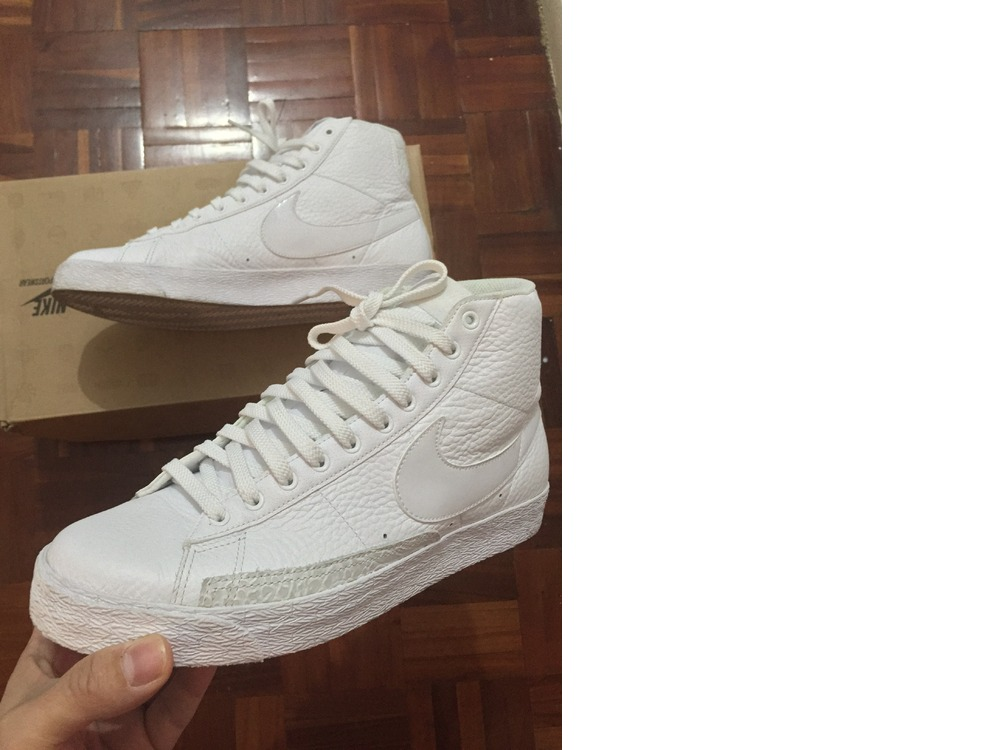 nike blazer white leather