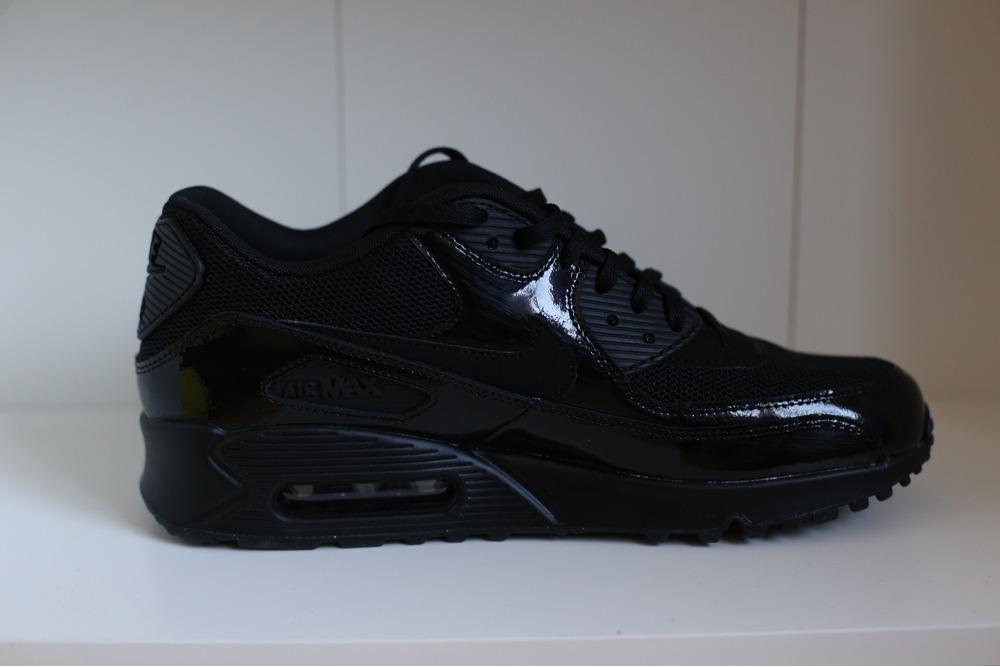c6c6f51306 Nike Air Max 90 PREMIUM Black amp Metallic Silver - photo .