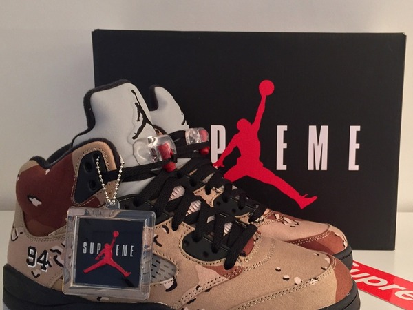 DS <strong>Air</strong> <strong>Jordan</strong> 5 <strong>Supreme</strong> <strong>Desert</strong> <strong>Camo</strong> us9.5 - photo 1/1