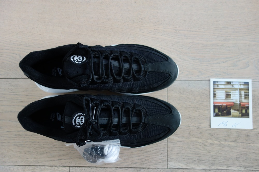 finest selection 476a8 38420 stussy air max 95 black