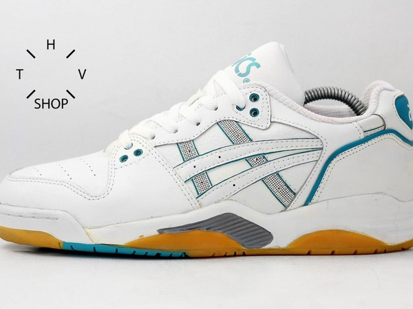 NOS 1992 vintage Asics GEL Crusher Low sneakers shoes trainers DS Deadstock 90s OG Indoor - photo 1/9