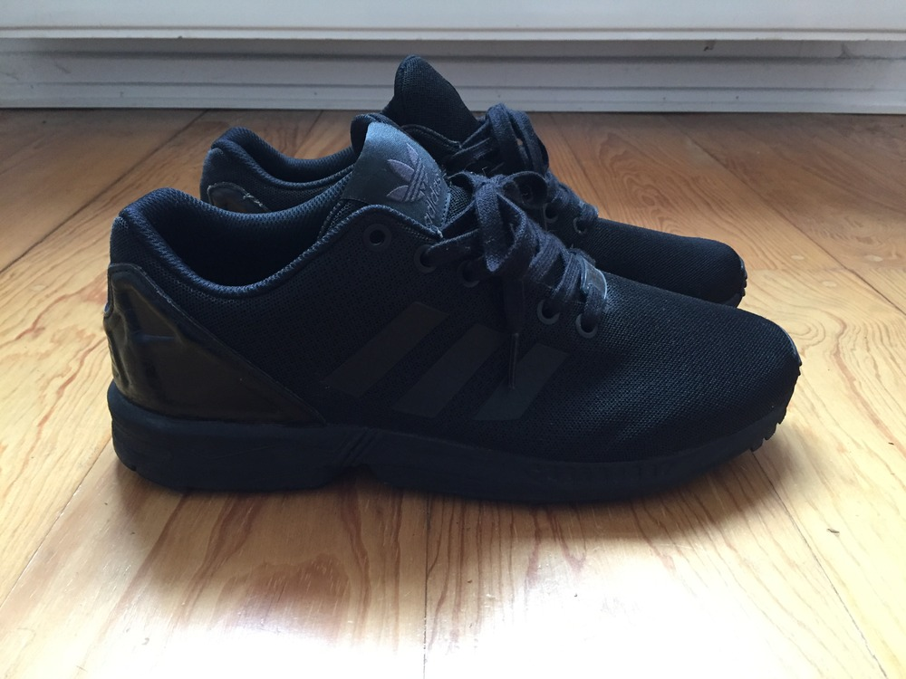 lowest price 7a3c3 2fd78 all black adidas zx flux
