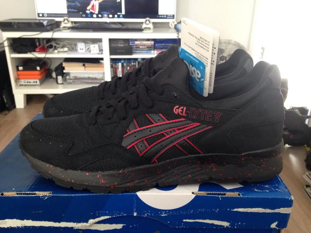 huge discount f228a a0e49 greece asics gel lyte 5 black red 37886 eaf15