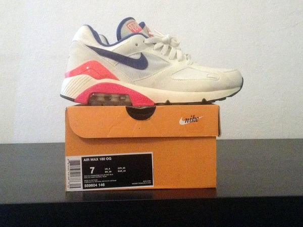 Cheap Nike Air Max 180 Summit White Laser Crimson Bright Magenta