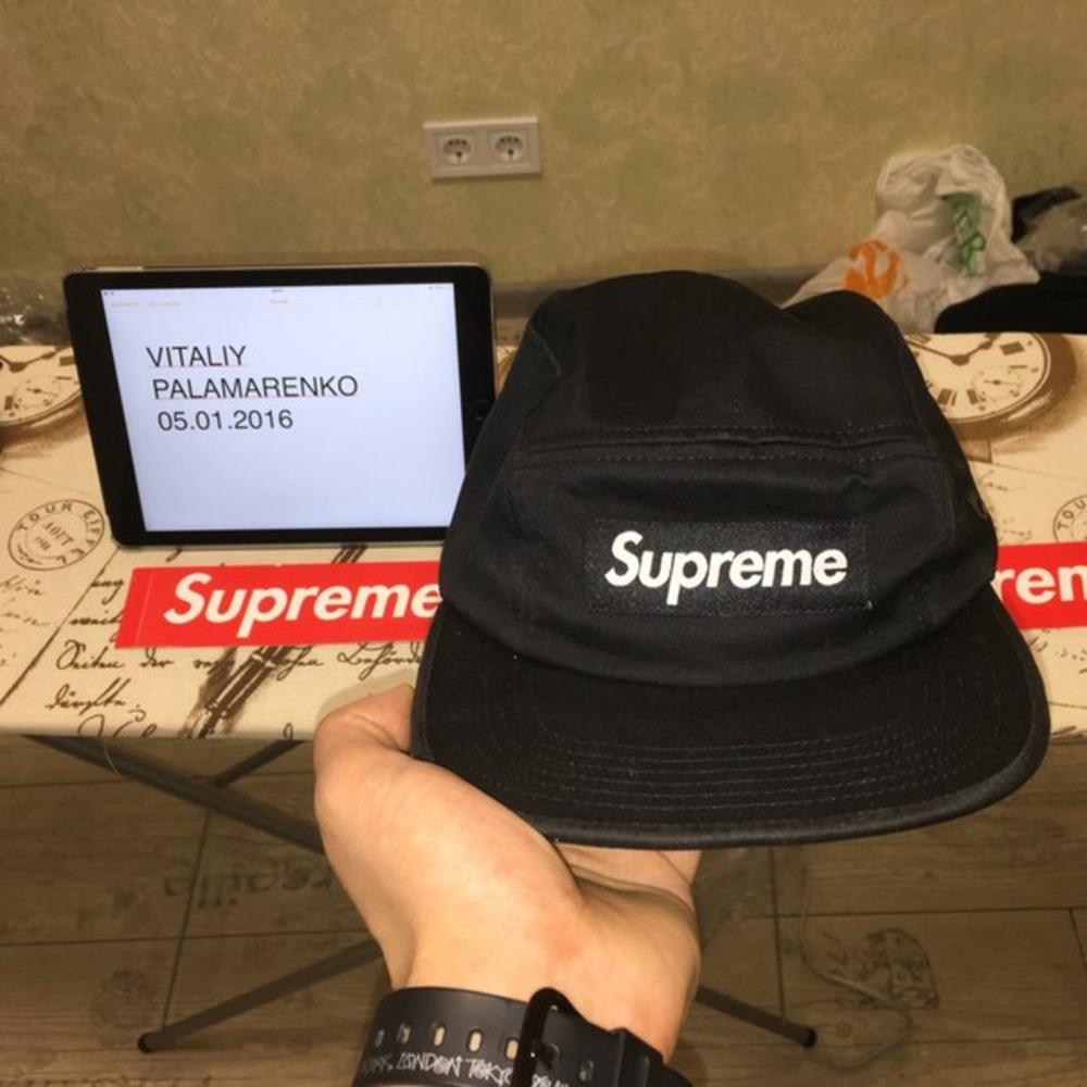 Supreme Side Zip Twill Camp Cap Supreme Black Cap Supreme