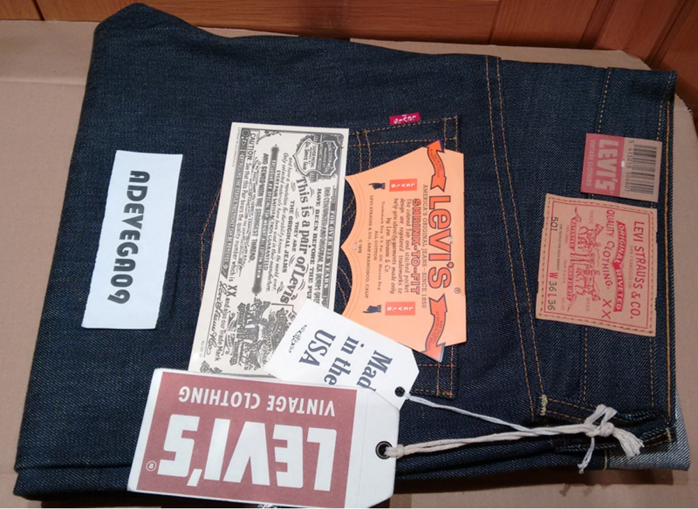 Levi's Vintage Clothing 501XX 1978 Selvedge Rigid W36 ...