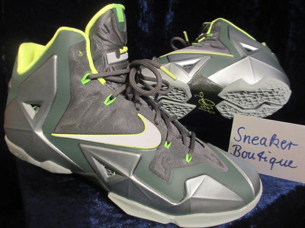 official photos 28eb6 b0cb7 ... Nike lebron xi 11 dunkman mica green volt basketball shoes sz 9  (616175-300 .